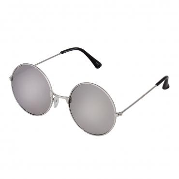 Ultra Silver Frame with Mirrored Lenses Adults Retro Round Large John Lennon Style Sunglasses Classic Men Women Vintage Retro UV400 Glasses Unisex