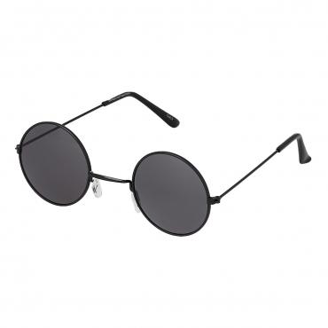 Ultra Black Frame with Black Lenses Retro Round Adults Small John Lennon Style Sunglasses Classic Men Women Vintage Retro UV400 Glasses Unisex