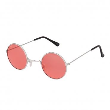 Ultra Silver Frame with Pink Lenses Retro Round Adults Small John Lennon Style Sunglasses Classic Men Women Vintage Retro UV400 Glasses Unisex