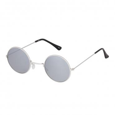 Ultra Silver Frame with Mirrored Lenses Retro Round Adults Small John Lennon Style Sunglasses Classic Men Women Vintage Retro UV400 Glasses Unisex