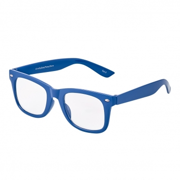 Dark Blue Childrens Costume Glasses Classic Clear Lens Frames Boys Girls Kids Fancy Dress World Book Day Geek Hipsters Nerds Look Style
