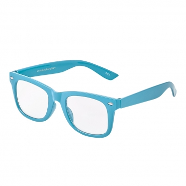 Blue Childrens Costume Glasses Classic Clear Lens Frames Boys Girls Kids Fancy Dress World Book Day Geek Hipsters Nerds Look Style
