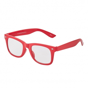 Red Childrens Costume Glasses Classic Clear Lens Frames Boys Girls Kids Fancy Dress World Book Day Geek Hipsters Nerds Look Style