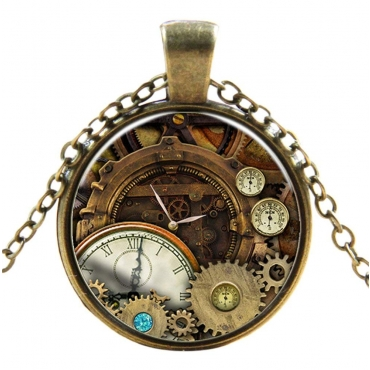 Antique Cogs Style Steampunk Necklaces Classic Cyber Punk Victorian Mens Womens Jewellery Chain and Pendant Copper Vintage Cosplay