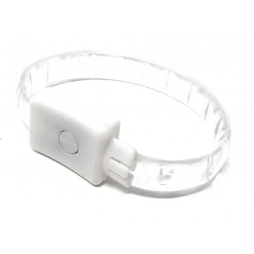 2 - 96 White LED Bracelets Light Up Flashing Adult Kids Adjustable 3 Modes Party