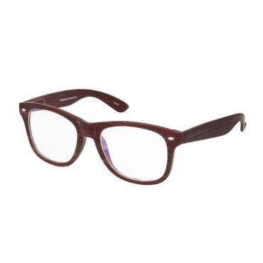 Wood Effect Rimed Adults Anti Blue Light Blocking Glasses Mens Womens Anti UV Eye Strain Fatigue Computer Reading Gaming Clear Lenses Eyewear