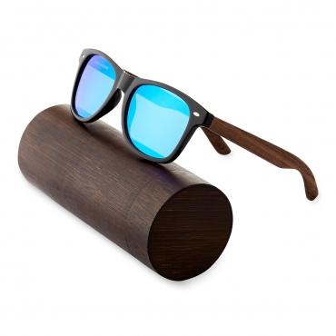Ultra Walnut Arms with Blue Lenses Sunglasses Polorised Eyewear Wooden Sunglasses UV400 Mens Womens-Walnut Arms with Blue Lenses