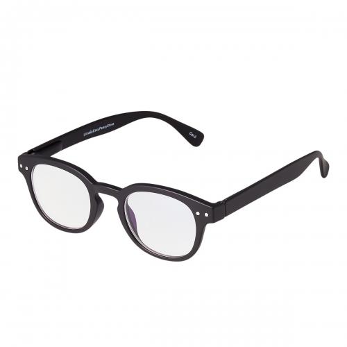 Ultra Black Horn Rimmed Childrens Anti Blue Light Blocking Eye Strain Glasses Boys Girls Classic Kids Recommended Age 3 to 8 Years