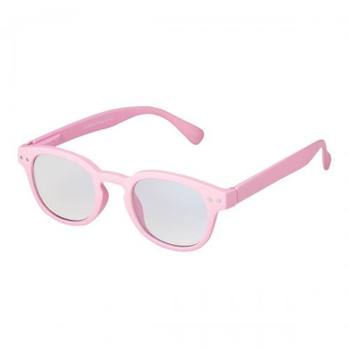 Ultra Pink Horn Rimmed Childrens Anti Blue Light Blocking Eye Strain Glasses Boys Girls Classic Kids Recommended Age 3 to 8 Years