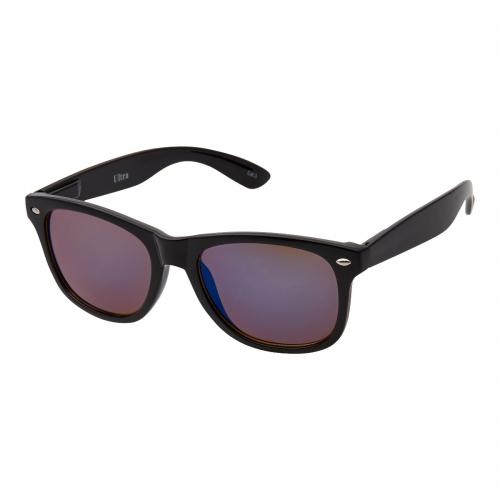 Ultra Adults Retro Classic Style Sunglasses Black Frame Blue Lenses UV400 Protection Rimmed Eyewear Mens Womens Unisex Shades