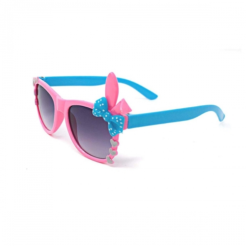 Ultra Pink Childrens Bunny Heart And Bow Style Gradient Lens Classic Frames  Costumes Parties Glasses Kids Nerds Geek World Book Day Cosplay