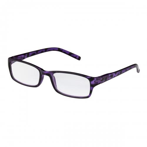 Ultra Purple Tortoise Adults Classic Frame Reading Glasses Dioptre Transparent Glasses Lightweight Comfortable Womens Reading Glasses Non-Prescription Lenses Foldable Eye Glasses