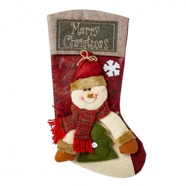 Ultra Snowman Christmas Stockings Large 3D Plush Xmas Sock Sack Gift Bag for Tree Christmas Stocking Pouch Bag Candy Bag Christmas Decorations For Kids Adults Christmas Decoration for Fireplace