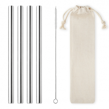 Ultra 12mm Wide Jumbo Metal Straws Straight Stainless Steel Metal Drinking Straws Cleaning Brush and Carry Pouch/Case Reusable Straw with Case Cocktail Accessories Smoothie Straws Milkshake Straw