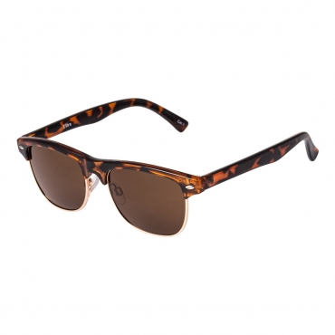 Tortoise Shell with Brown Lenses Childrens Round Half Frame Kids Sunglasses UV400 UVA Protection Retro Classic Boys Girls Glasses Half Rim Vintage Style Suitable for Ages 3 to 8 Years