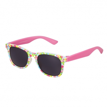 Ultra Vibrant Floral Pink Kids Sunglasses Rubber Flexible Childrens Sunglasses UV400 UV Protection UVA UVB Boys Sunglasses Girls Sunglasses for Kids Retro Classic Sun Glasses Unbreakable Glasses