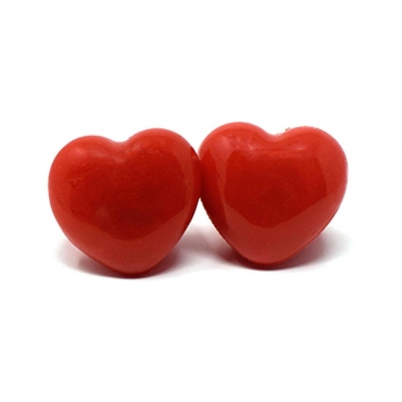 Red Heart Flashing Led Jelly Rings Adult Children Party Favour Finger Glowing
