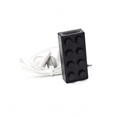 Black Building Block Brick style Mp3 Player including 2gb Micro TF SD Card