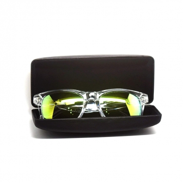Ultra ® Clear with Yellow Lenses A Line Premium Adults Classic Shape Style Sunglasses Unisex Clear framed Sunglasses and Case colouful lenses available with Blue light