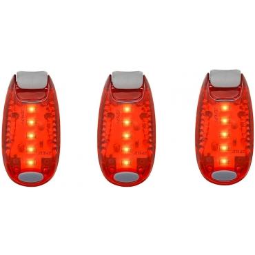 Ultra LED Safety Lights Clip On Flashing Strobe Light High Visibility for Running Jogging Walking Cycling for Kids Dog Bicycle Bike Lights Helmet Light Hi Vis Armbands Running-3 Red