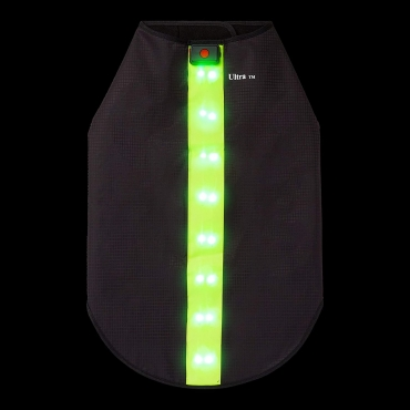 Ultra Waterproof Dog Coat LED Jacket Dog Raincoats Waterproof for Night Time Walking Visibility Dog Rain Mac Fluorescent Dog Coats LED Dog Coat Dog Walking LED Coat Doggy Raincoat