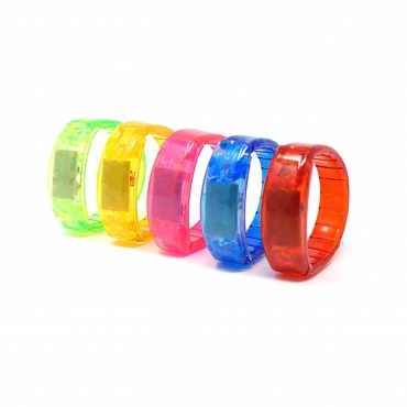 Ultra ® 4 - 96 Mixed Packs of LED Flashing Bracelets glowing light up illuminating bracelet for parties raves birthdays dances and events