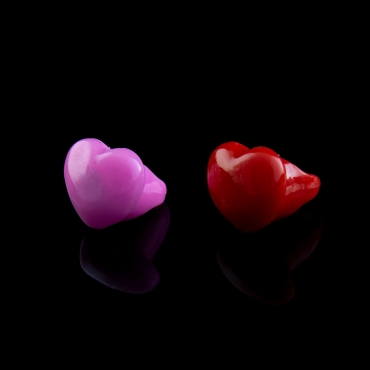 Pink and Red Heart Flashing Led Jelly Rings Adult Children Party Favour Finger