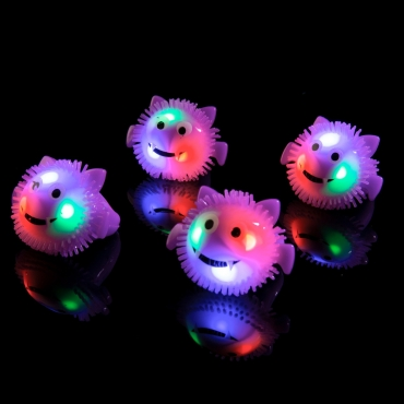 Flashing Led Purple Bat Jelly Rings Adult Children Party Favour Finger Light Up