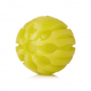 Ultra Yellow Coloured LED Dog Balls Flashing Glow in the Dark Light Up Dog Toys Virtually Indestructible Ball Perfect for Dog Games Including Catch Ball Glow Balls for Dogs Flashing Durable Dog Ball
