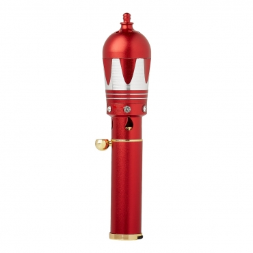 Red and Silver Dome Handheld Incense Burner Diffuser Sticks Cones Vaporizer Bakhoor Bakhur Oudh Oud Wood Jet Butane Flame Pen
