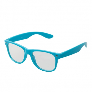 Ultra Blue Adults Classic Costume Glasses with Clear Lenses Retro Design For Men Women For Fancy Dress Geek Look Cosplay Hipsters World Book Day