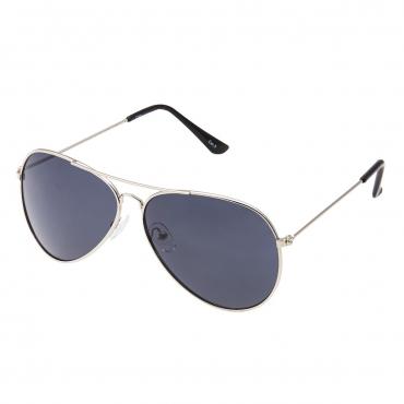 Ultra Silver with Black Lenses Adult Pilot Style Sunglasses Men Women Classic Vintage Retro Glasses UV400 Metal Shades Eyewear