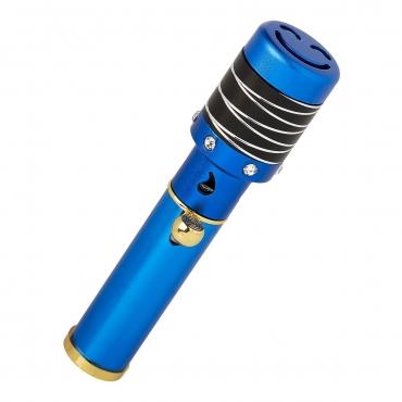 Blue with Black Striped Top Handheld Incense Burner Diffuser Sticks Cones Vaporizer Bakhoor Bakhur Oudh Oud Wood Jet Butane Flame Pen
