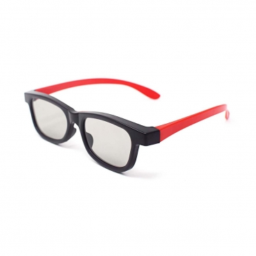 Red and Black Adults Passive 3D Glasses universal stylish for all Passive TVs Cinema and Projectors such as RealD Toshiba LG Panasonic and more