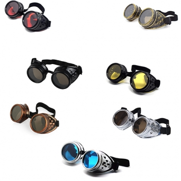 Ultra Steampunk Goggles Cyber Glasses Victorian Men's Women's Cosplay Goth Round