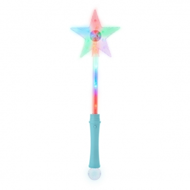 Ultra Blue Light Up Wand Star Light Flashing Wand Fairy Light Princess Toys Premium Magic Wand Kids Light Up Star Wand Ideal Party Favours Princess Parties Toy Wand with Disco Ball Light Up Wand-1 Blue Wand