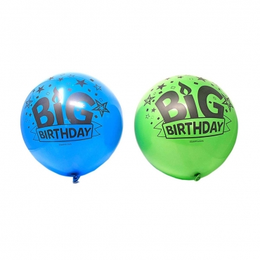 """Packs of 4 to 50 Supersize Balloons Green and Blue Big Birthday 24"""" Illoom Light Up LED Balloons As Seen on Dragons Den Light Up Balloons Party Decor Luminous Balloons"""
