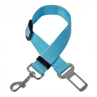Ultra Blue Dog Seat Belt Adjustable Pet Car Seatbelt Dog Harness Safety Leads Cat Vehicle Travelling Leash 40cm to 53cm Dog Seat Belt for Car Dog