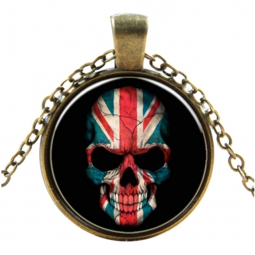 British Skull Style Steampunk Necklaces Classic Cyber Punk Victorian Mens Womens Jewellery Chain and Pendant Copper Vintage Cosplay
