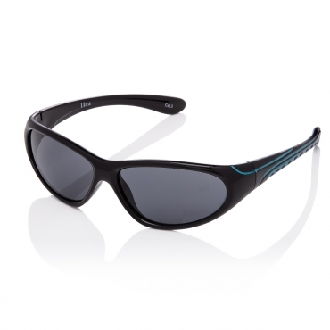 Black and Blue Frame Childrens Wraparound Sports Style Sunglasses UV400 Protection Boys Girls Kids Shades UVA UVB Glasses Durable Frame Unisex