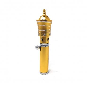 Golden Spiral Handheld Incense Burner Diffuser Sticks Cones Vaporizer Bakhoor Bakhur Oudh Oud Wood Jet Butane Flame Pen