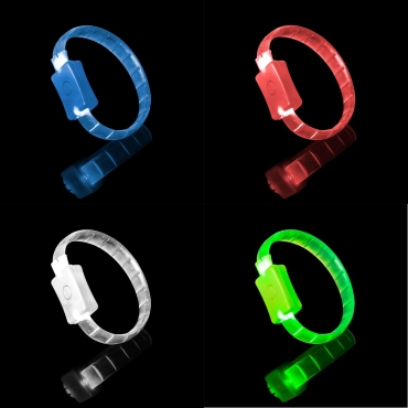 Ultra LED Bracelet Glowing Adjustable Light Up Flashing Bracelets Adult Children
