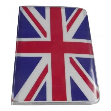 Great British Flag Travel Passport Card Holder Pouch Cover Artistic Print Passport Holder Cover For Men and For Women Thin Slim Holder Passport Holder Novelty Design
