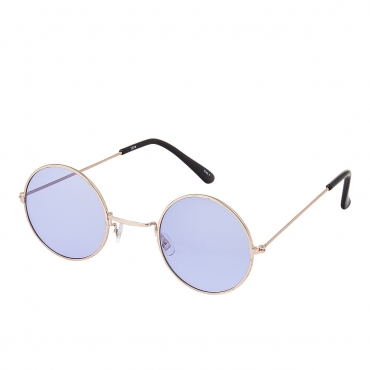Ultra Gold Frame with Lilac Lenses Retro Round Adults Small John Lennon Style Sunglasses Classic Men Women Vintage Retro UV400 Glasses Unisex