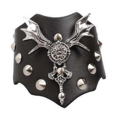UltraByEasyPeasyStore Gothic Bat Goth Steampunk Bracelet Emo Punk Cyber Wrist Cuff Mens Womens Wristbands Biker Rock Vintage Style Adult