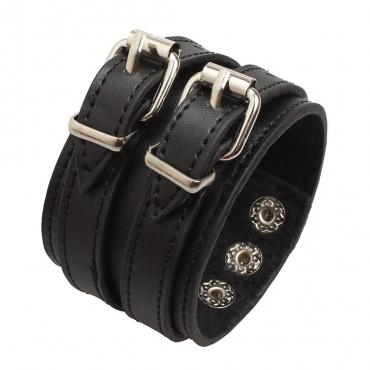 UltraByEasyPeasyStore Gothic Buckle Steampunk Bracelet Emo Punk Cyber Wrist Cuff Mens Womens Wristbands Biker Rock Vintage Goth Style Adult