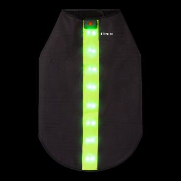 Green Waterproof Dog Coat LED Jacket Dog Raincoats Waterproof for Night Time Walking Visibility Dog Rain Mac Fluorescent Dog Coats LED Dog Coat