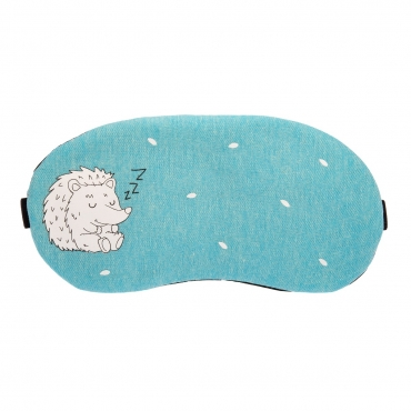 Hedgehog Plush Sleep Eye Masks Animal Mask Detachable Reusable Ice Pack Hot Cold Gel Compress for Tired Puffy Eyes Travel Sleeping Men Women Children