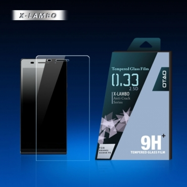 OTAO Huawei Ascend P6 Tempered Glass Screen Protector Curved edge 2.5D Premium Clear 0.3ml X Lambo highest level protection 9H Pro