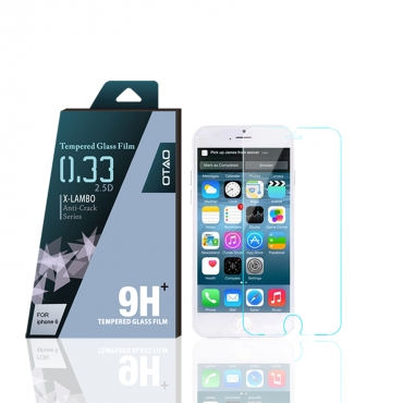 "OTAO Apple Iphone 6 6s 4.7"" 6 6s 5.5"" Plus Tempered Glass Screen Protector Curved edge 2.5D Premium Clear 0.3ml X Lambo highest level protection 9H Pro 4.7"""